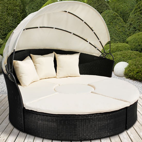Awesome salon de jardin modulable rond images awesome interior home satellite - Canape de jardin rond ...