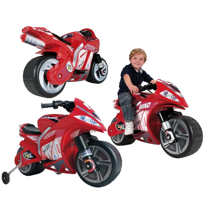 moto sport electrique pour enfants rouge. Black Bedroom Furniture Sets. Home Design Ideas