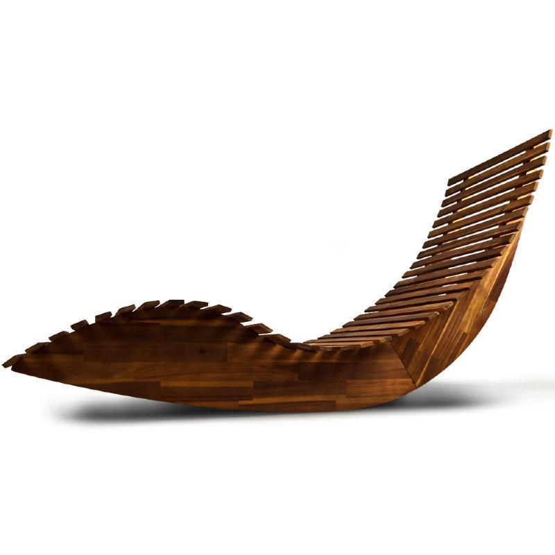 Transat bain de soleil design en bois acacia 2 coloris - Gartenliege design ...