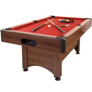 BILLARD PRO 5 Ft, Bois marron, tapis rouge