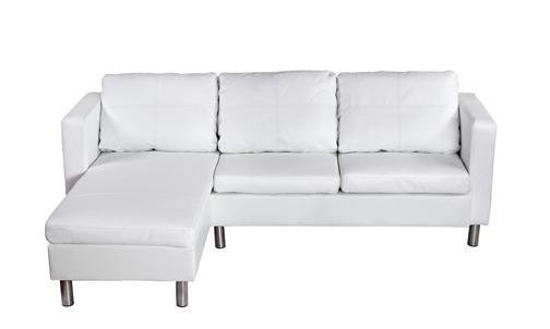 Canape de salon en cuir blanc - Canape cuir haute qualite ...