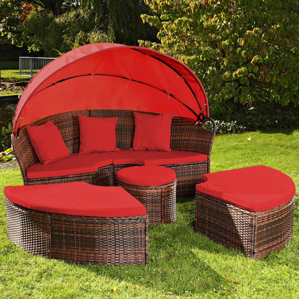 best salon de jardin lit sofa rond modulable ideas amazing house design. Black Bedroom Furniture Sets. Home Design Ideas