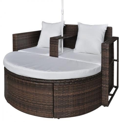 canape jardin r sine tress e chocolat 2 places parasol. Black Bedroom Furniture Sets. Home Design Ideas