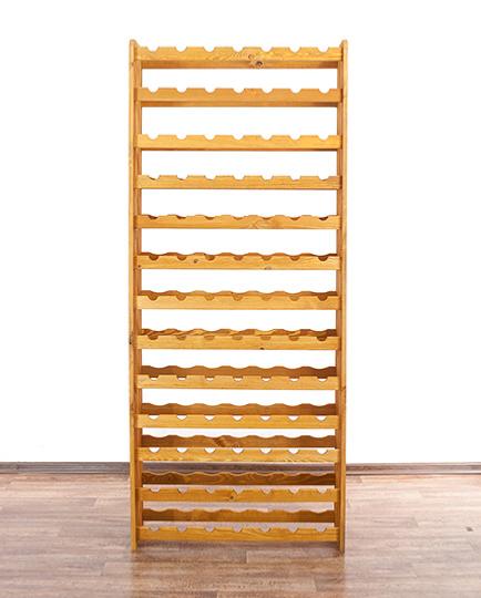 casier vin en bois massif laqu pour 91 bouteilles. Black Bedroom Furniture Sets. Home Design Ideas