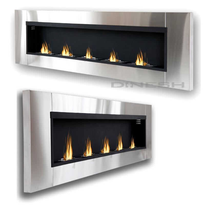 cheminee inox design bio ethanol xxxxl 190 cm. Black Bedroom Furniture Sets. Home Design Ideas