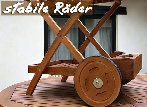 desserte de jardin en bois exotique. Black Bedroom Furniture Sets. Home Design Ideas