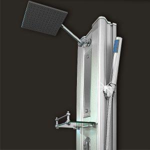 Colonne de douche alu avec jets massant - Colonne aluminium prix ...