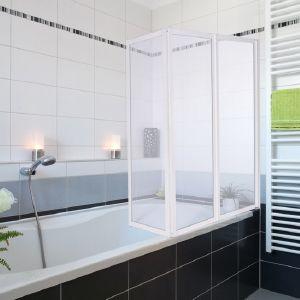 Pare baignoire douche pivotant 3 volets coulissants - Pare douche de baignoire ...
