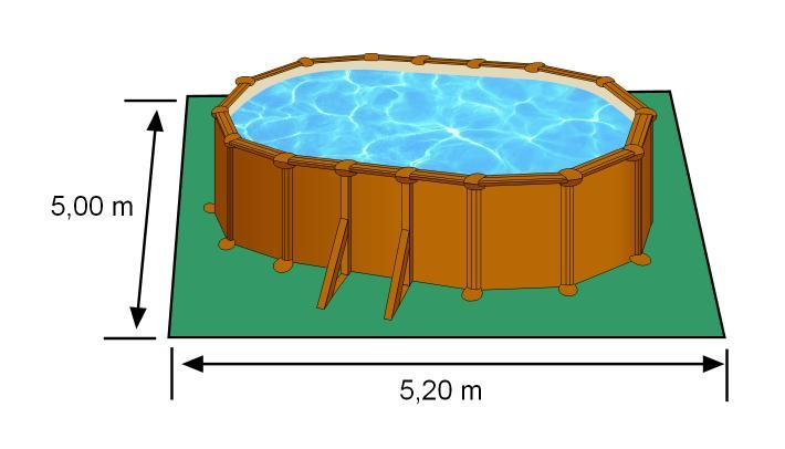 Piscine m x m x m aspect bois for Prix piscine complete