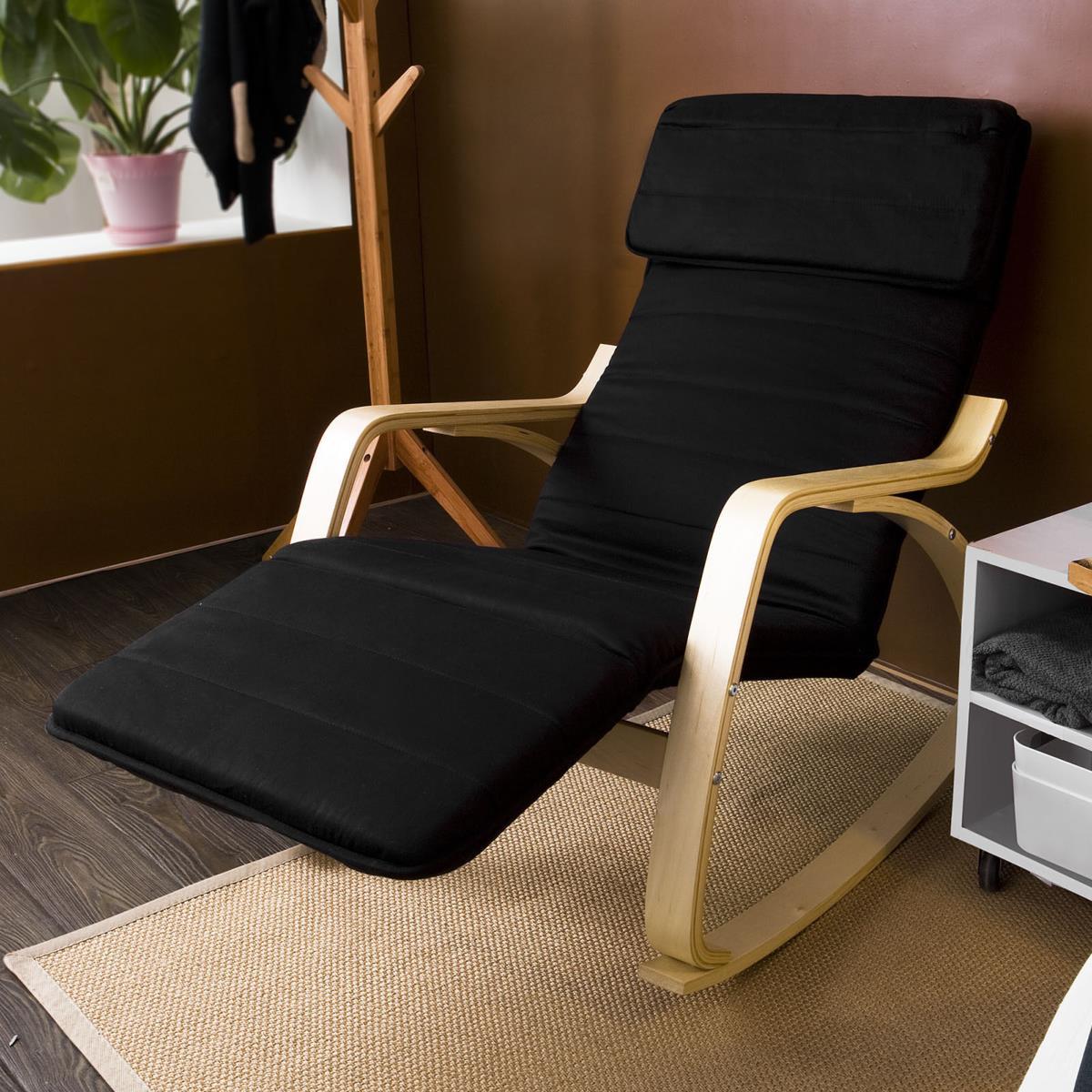 rocking chair design en bois de bouleau 3 coloris. Black Bedroom Furniture Sets. Home Design Ideas