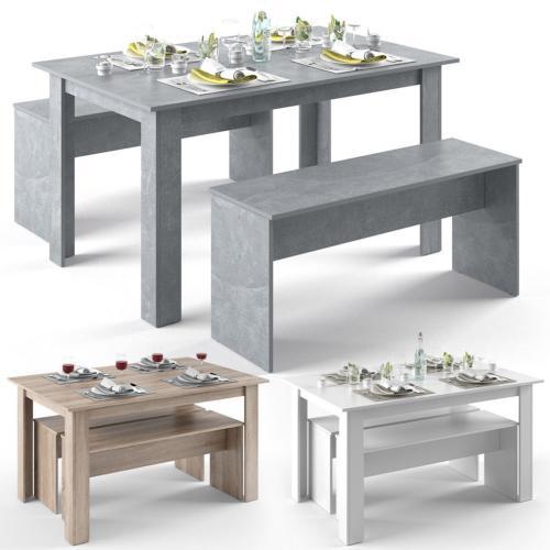 Table Et Banc Salle A Manger.Salle A Manger Table Et Bancs 3 Coloris