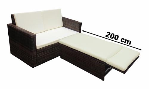 canape de jardin avec syst me lit en r sine tress e. Black Bedroom Furniture Sets. Home Design Ideas