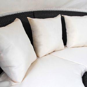 Canapé / lit de jardin rond modulable en résine tressée