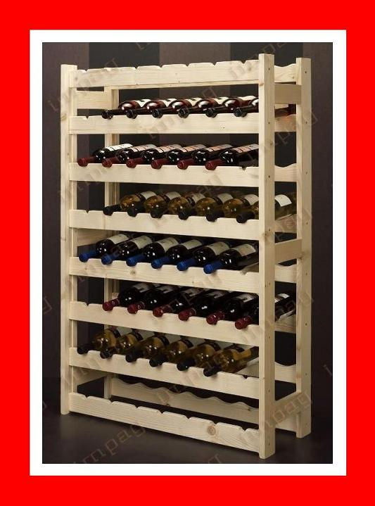 casier vin en bois naturel 56 bouteilles. Black Bedroom Furniture Sets. Home Design Ideas
