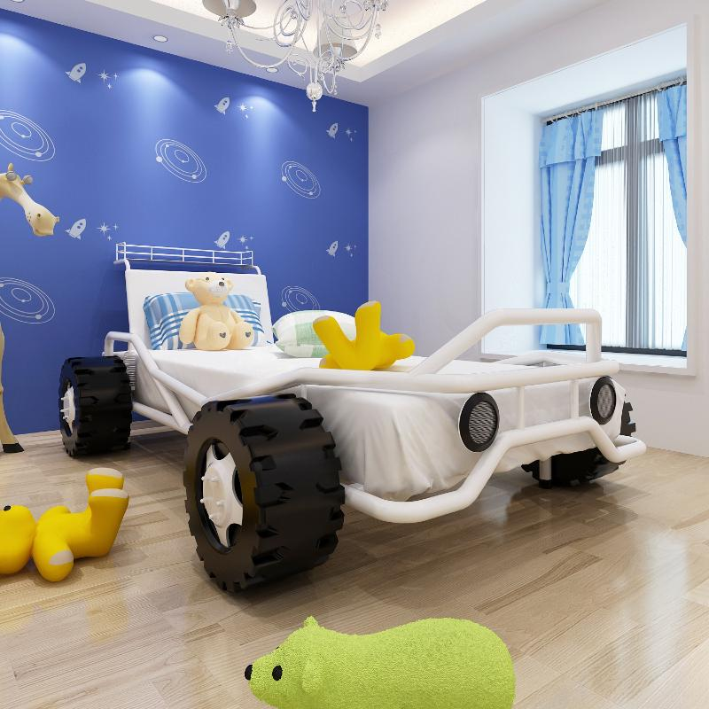 lit enfant voiture avec matelas 200 x 90 cm. Black Bedroom Furniture Sets. Home Design Ideas