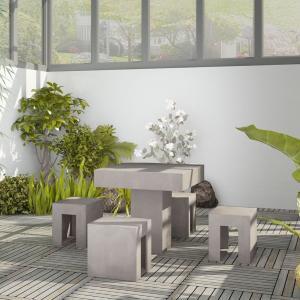 Salon/canapé en bois, béton et autres matières
