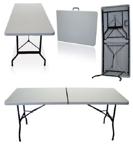 TABLE PLIANTE qualité pro: metal et nylon 183 ou 240 cm