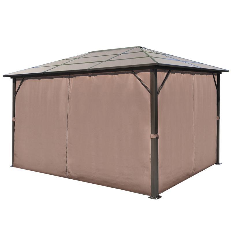 tonnelle de jardin alu polycarbonate 3 x 4 m. Black Bedroom Furniture Sets. Home Design Ideas