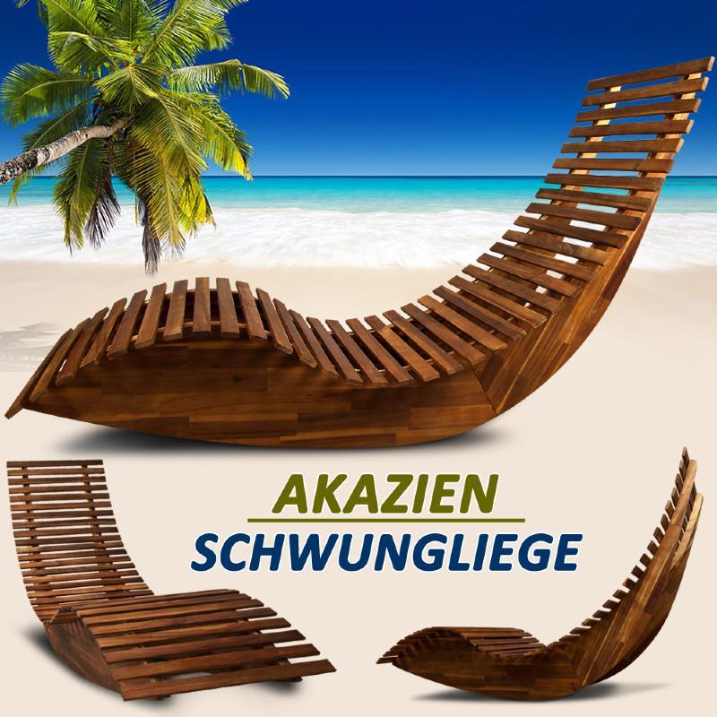 transat bain de soleil design en bois acacia 2 coloris. Black Bedroom Furniture Sets. Home Design Ideas