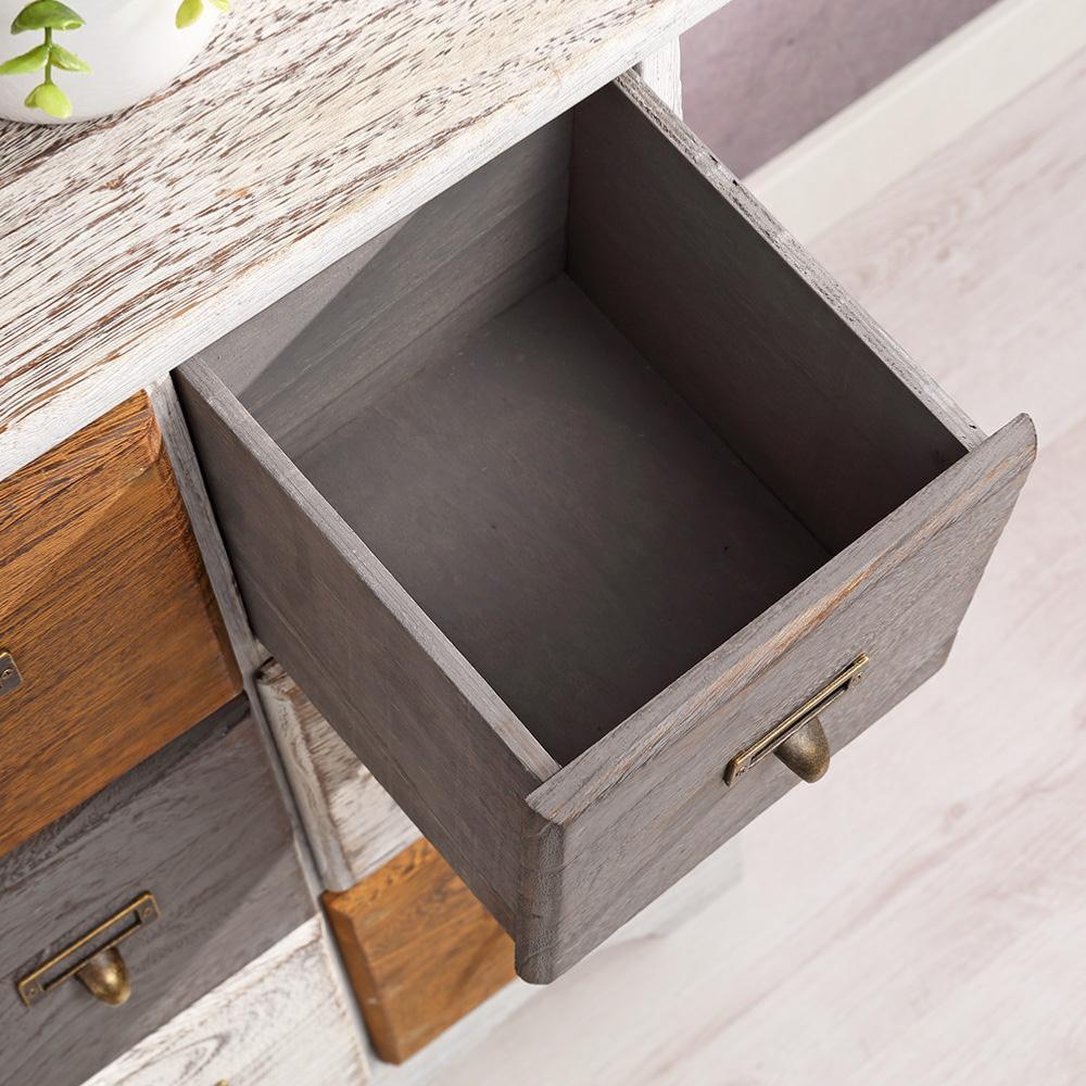 commode 9 tiroirs de style ancien en bois de haute qualit. Black Bedroom Furniture Sets. Home Design Ideas