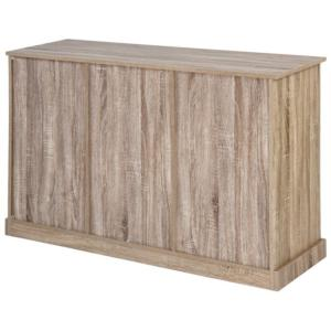 Commode bois naturel, 5 tiroirs, style campagnard