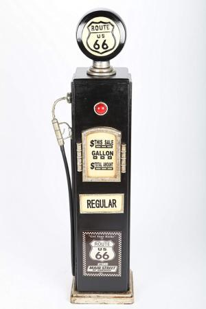 Range CD - pompe à essence, style américain Retro, noir