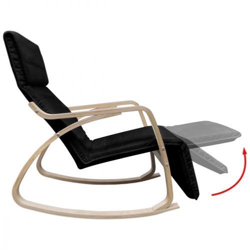 Rocking Chair Design En Bois De Bouleau 3 Coloris