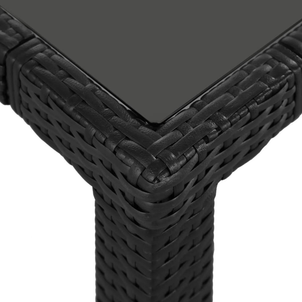Salon de jardin résine tressée noir, 4, 6 ou 8 places, modèle JAVA