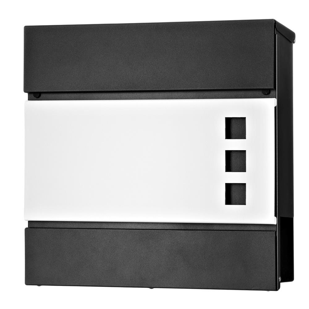 boite aux lettres design blanc noir mod le mars. Black Bedroom Furniture Sets. Home Design Ideas