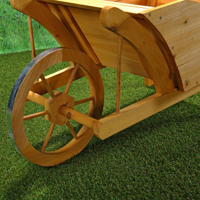 Brouette d co en bois for Brouette jardin