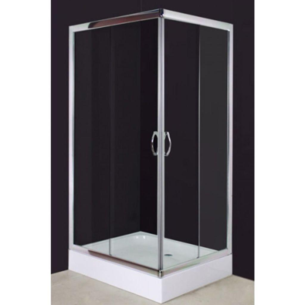 cabine de douche angle 100 x 80 cm avec receveur. Black Bedroom Furniture Sets. Home Design Ideas