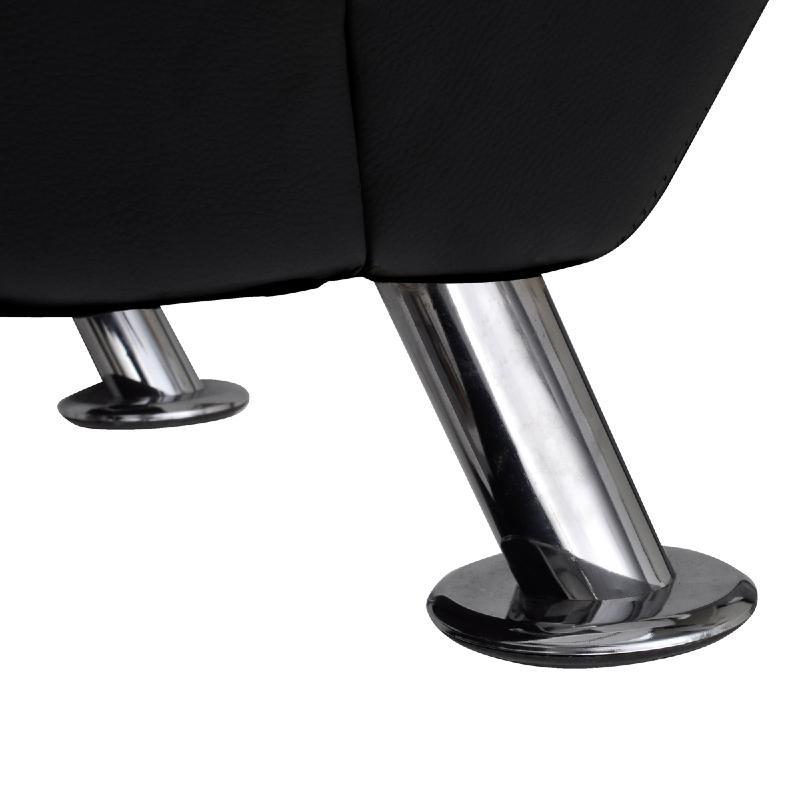 chaise longue cuir en noir avec appui t te. Black Bedroom Furniture Sets. Home Design Ideas
