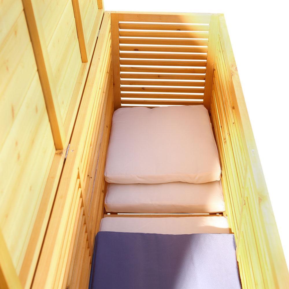 Coffre de rangement en bois massif xxl - Rangement bois interieur ...