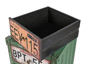 Commode vintage 3 tiroirs, style vieux container industriel