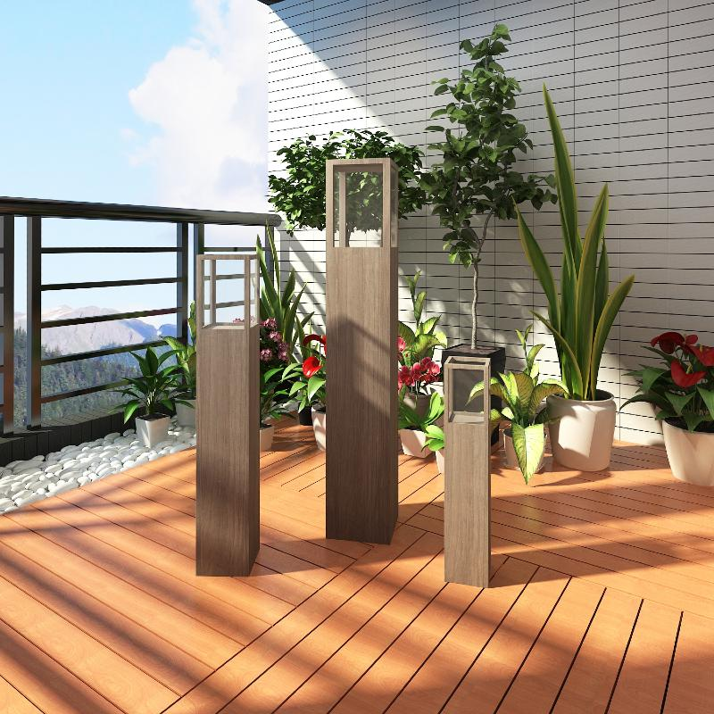Lanternes bougies de terrasse lot de 3 divers coloris for Lanterne exterieur design