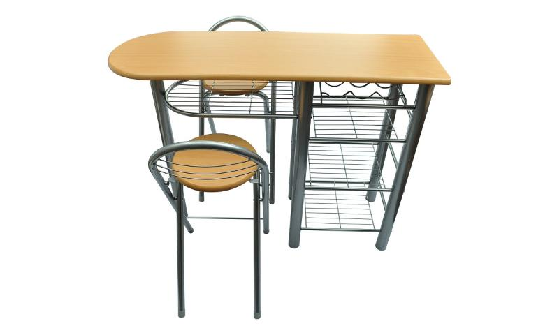 Table de bar avec 2 chaises for Table cuisine avec tabouret bar