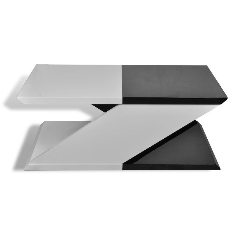 Table basse originale noir et blanche en forme de z - Modele table basse ...