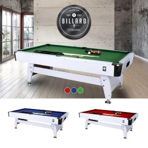 BILLARD type PRO, 7Ft, blanc, tapis 3 coloris