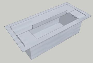 cheminee inox bio ethanol xxxl noir. Black Bedroom Furniture Sets. Home Design Ideas