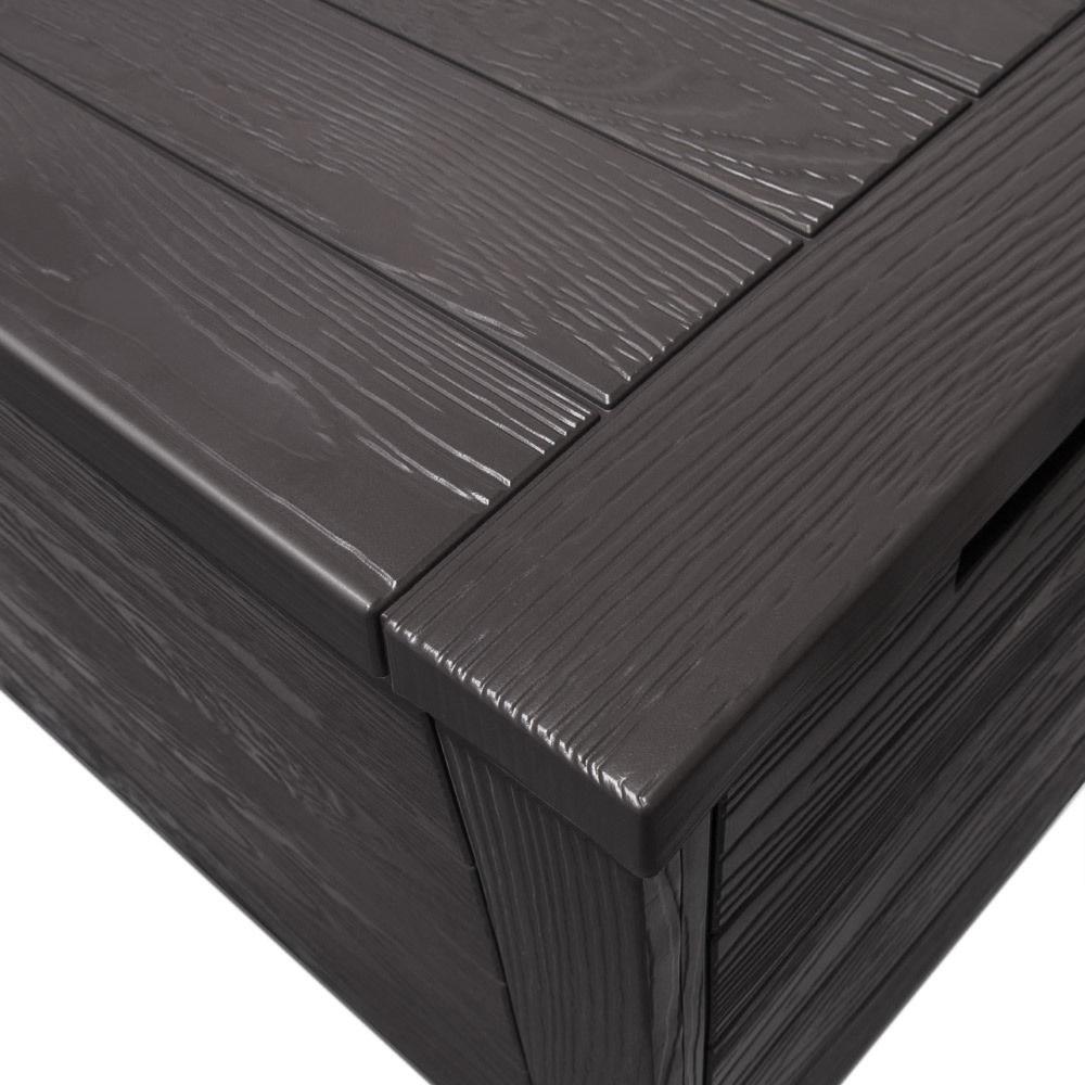 Coffre de rangement ext rieur ou int rieur imitation bois for Coffre de rangement exterieur