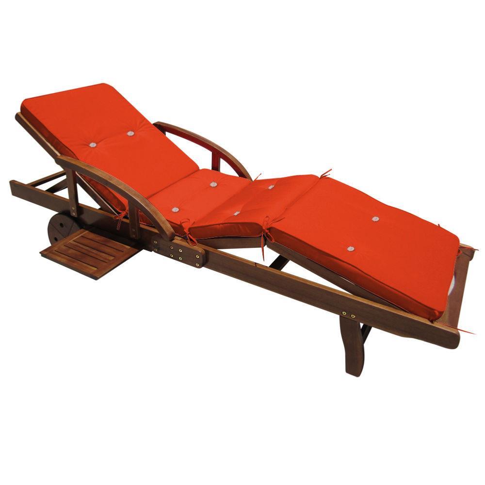 coussin orange pour bain de soleil et transat. Black Bedroom Furniture Sets. Home Design Ideas