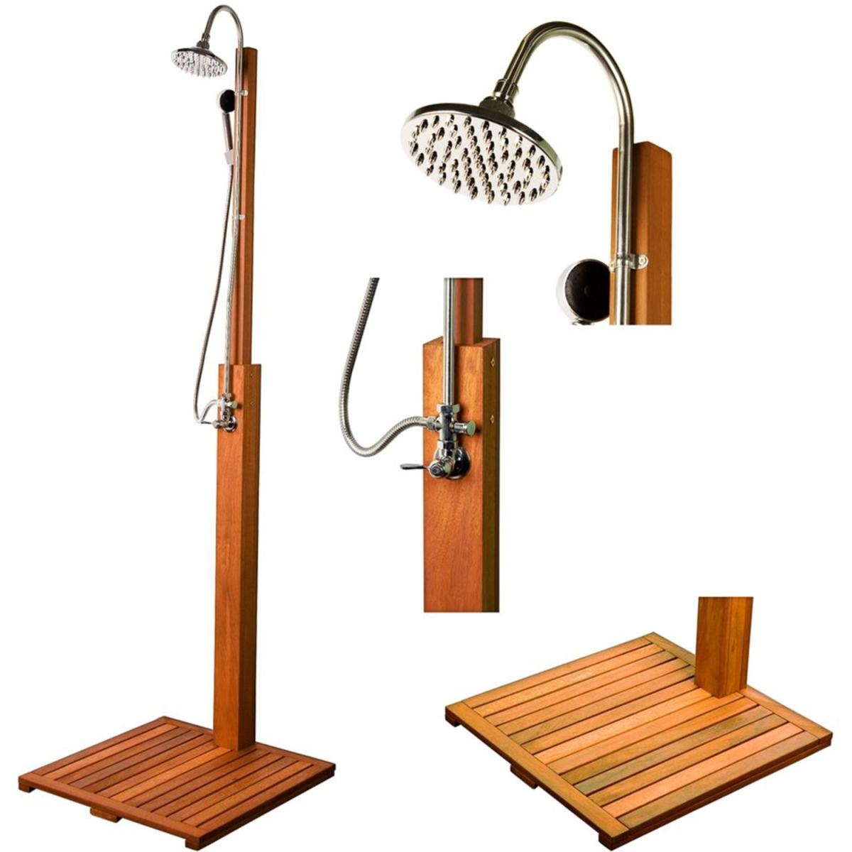 Douche ext rieur en bois exotique dur de shorea for Duchas para terrazas