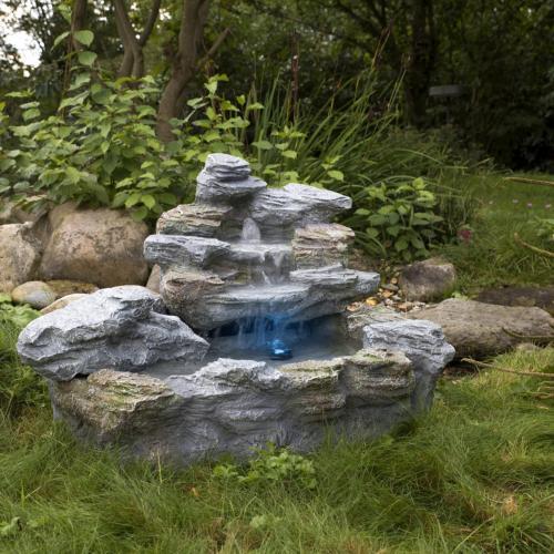 Fontaine De Jardin Illuminee 4 Variantes Lumiere