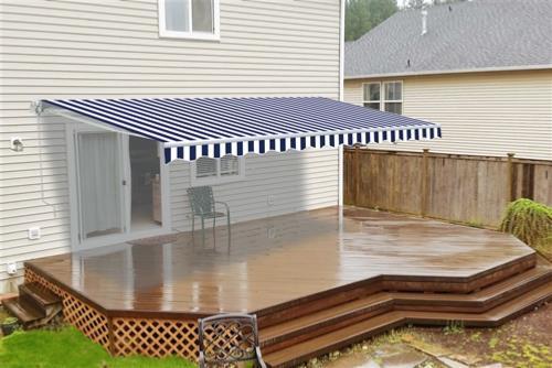 store banne manuel bleu blanc 4 dimensions. Black Bedroom Furniture Sets. Home Design Ideas