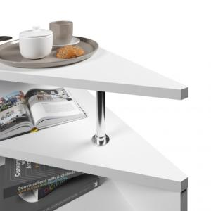 TABLE basse triangle, 60 cm, blanc