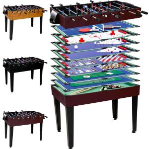 TABLE multi-jeux, 4 coloris, 15 en 1