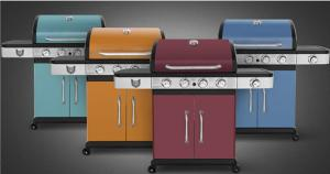 BARBECUE INOX à gaz, qualité PRESTIGE, design 4 coloris