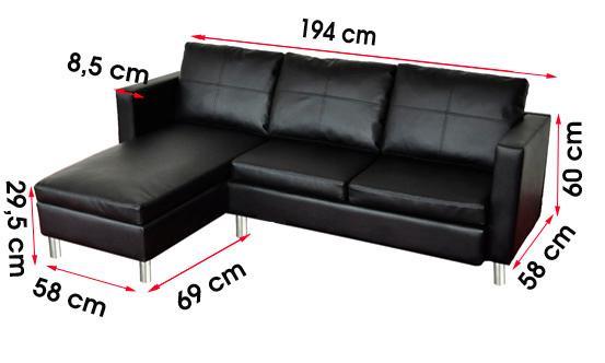 Canape de salon en cuir noir - Salon en cuir noir ...