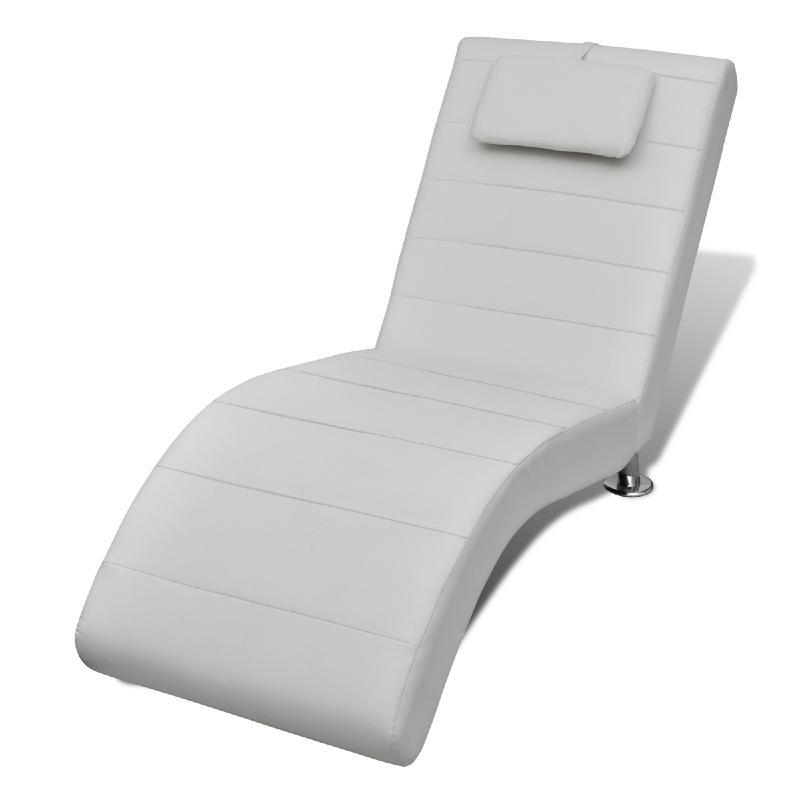 chaise longue inox cuir appuie tete blanc 01 zoom Résultat Supérieur 5 Impressionnant Chaise Longue Cuir Stock 2018 Pkt6