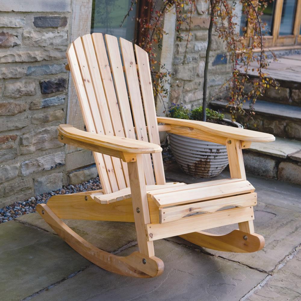 fauteuil bascule type rocking chair en bois exotique. Black Bedroom Furniture Sets. Home Design Ideas
